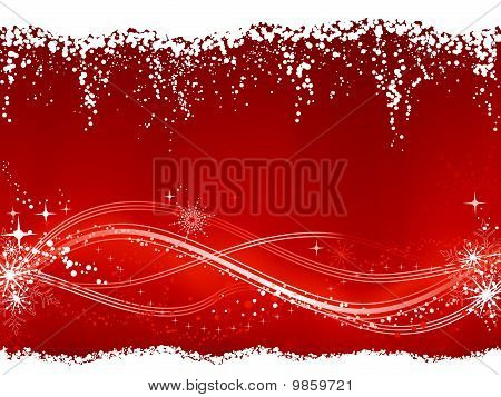 Red  winter / Christmas background