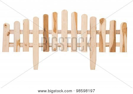 A Handmade Wooden Fence Isolated