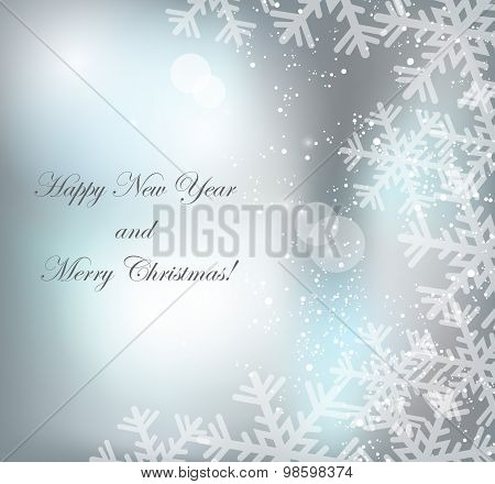 Merry Christmas Landscape. Vector  Happy New Year