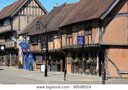 Buildings along Spon Street, Coventry.
