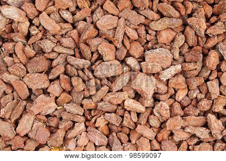 Red(brown) mulch texture