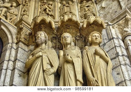 France,  The Chartres Cathedral In  Eure Et Loir