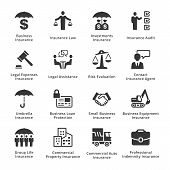 Business Insurance Icons poster