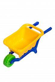 image of dumper  - Toy 3 wheel 3 color small dumper - JPG