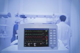 picture of icu  - Monitoring of the patient in ICU ward - JPG