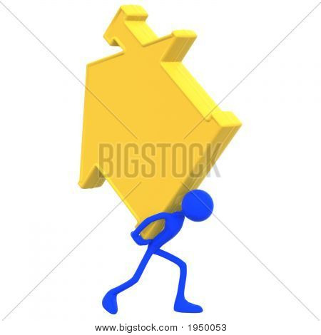 Golden Home Sign Symbol Burden