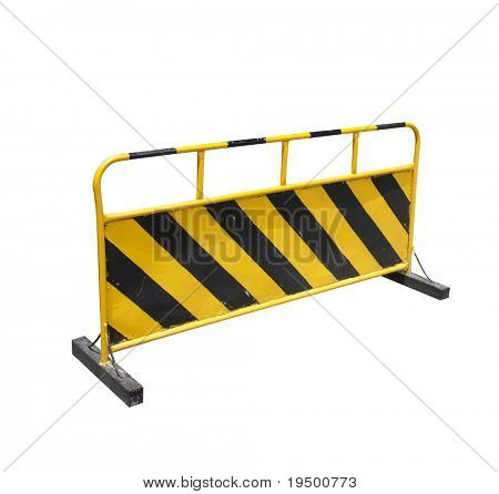 construction barrier isolated on white