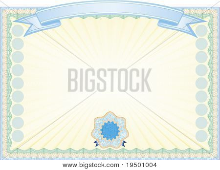 Secured Guilloche certificate background, in vector file elements are in layers for easy editing