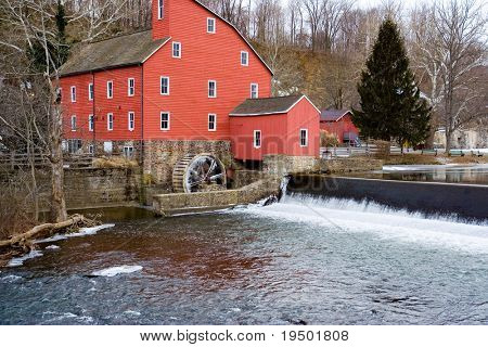 The Red Mill in New Jersey and Falls
