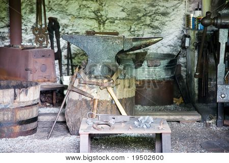 19th Century Blacksmith shop.