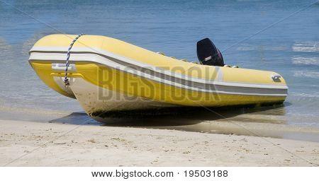Dingy on Beach