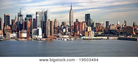 O Empire State Building e o Skyline de Nova York