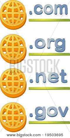 Internet website www domain url name extensions com gov org net