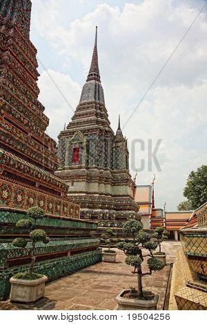 Ancient Pagoda or Chedi at Wat Pho,The Temple of reclining buddha, Bangkok,Thailand