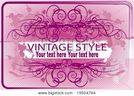Vintage frame. Pink. Emo. Glamur.