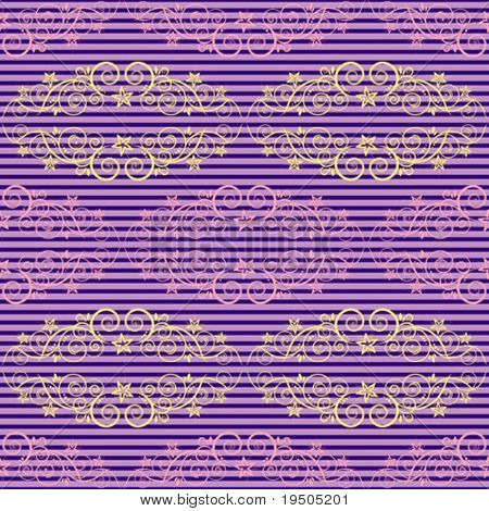 Seamless background. The classic elegant design. Lilac. Retro. One layer. Striped horizontal background. VECTOR (See Jpeg Also In My Portfolio)