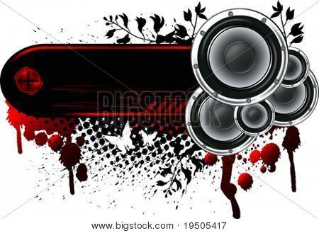 Loudspeakers Banner Grunge