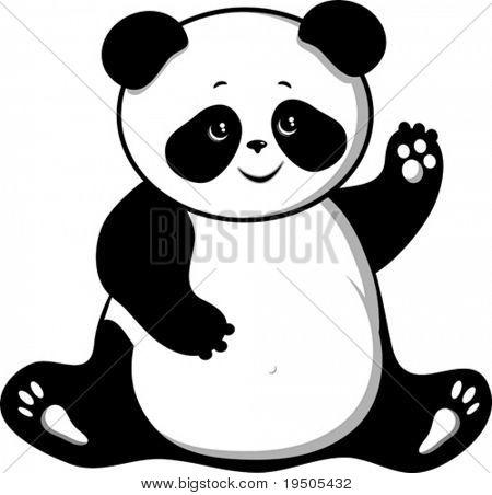 Bär Panda isoliert auf weißem Hintergrund Vektor (siehe Jpeg auch In mein Portfolio)