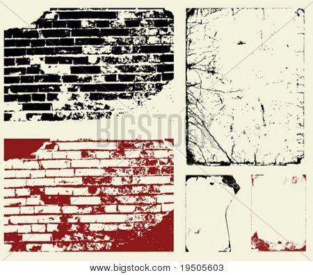 Vector. Set of grunge background