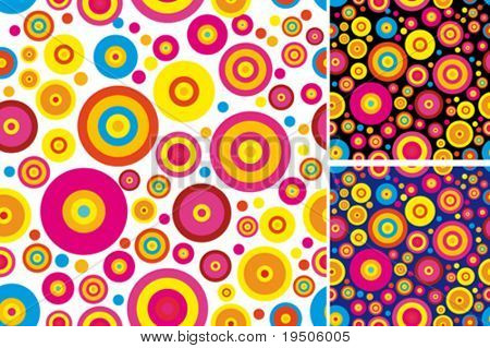 Colored background of circles Fashionable Seamless VECTOR (See Jpeg Also In My Portfolio)