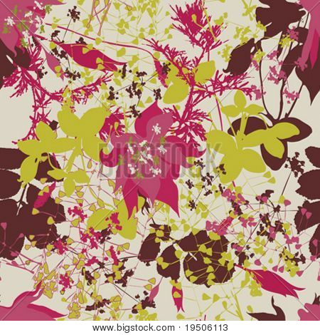 Beautiful flowers for your design Seamless VECTOR (See Jpeg Also In My Portfolio)