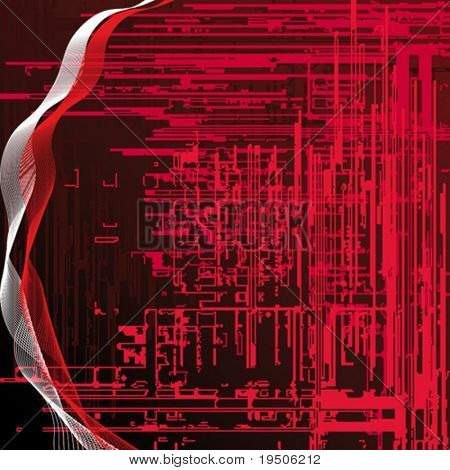 Abstract techno background  Red