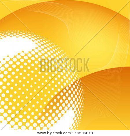 Abstrakt Wärme und Sanddünen Vektor (siehe Jpeg auch In mein Portfolio)