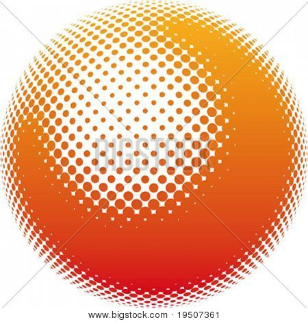 Element for your design. Orange stains form a ball on a white background