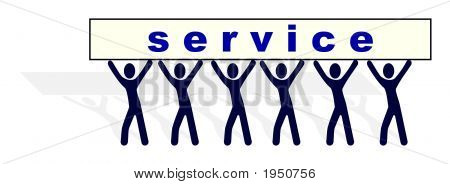 """Illustration Of People Carrying Service """"Burden"""""""