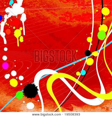 Watercolor vector  abstract background with spray paint JPG (See Vector  Also In My Portfolio)