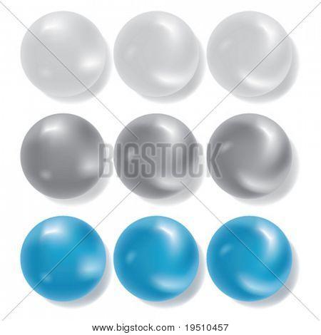 Elementos del vector - esferas