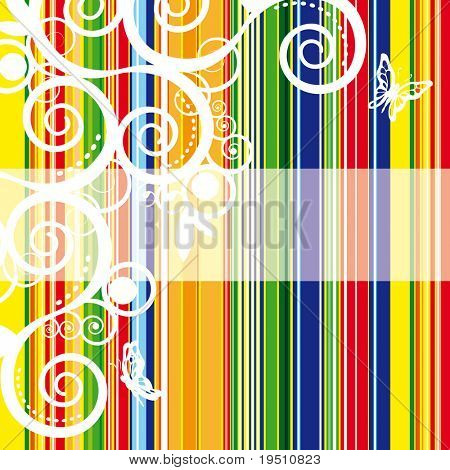Striped bright background with place for Your text. (Vector version - 25707979)
