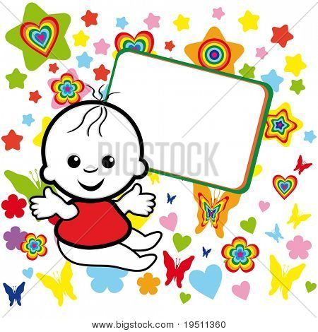 Charming kid and the banner.