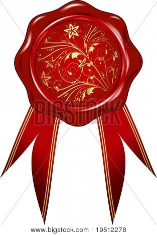 Wax seal with ribbons (Version vector 11858377)