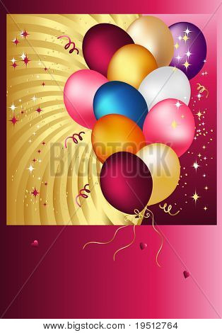 Postal Copula of wonderful balloons.