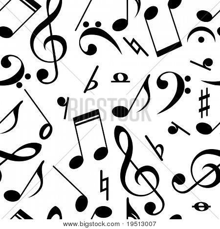 Musical theme Seamless Background