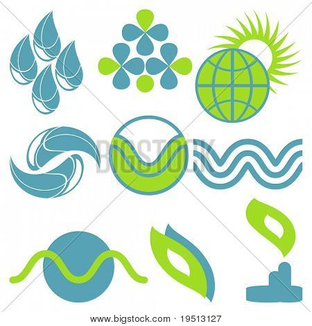 A set of natural icons