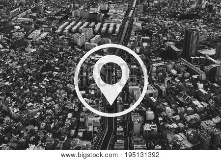 poster of Map Pin Location Direction Position Graphic
