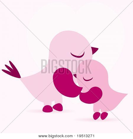 The background with birds