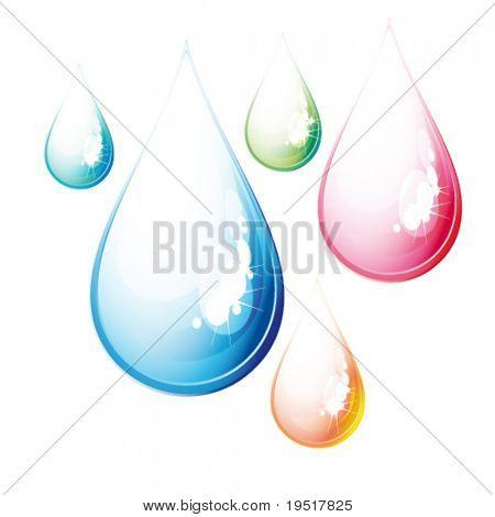 Vector Set of color drops