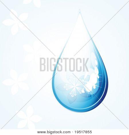Gota de flor de Vector