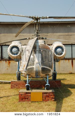 Dusty Agriculture Helicopter