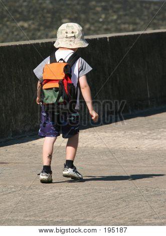 A Child Walking Alone
