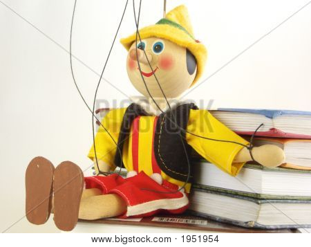 The Wooden Puppet And Books