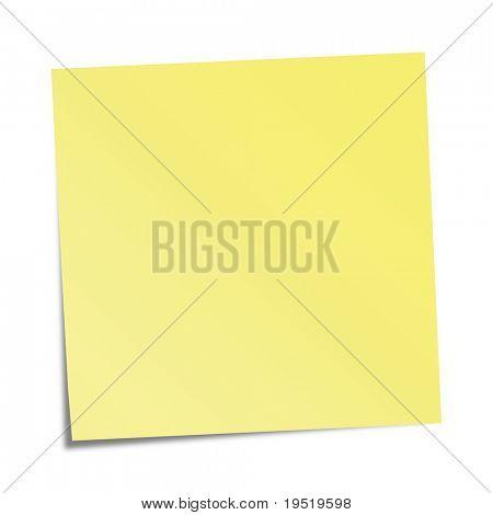 Yellow sticky note