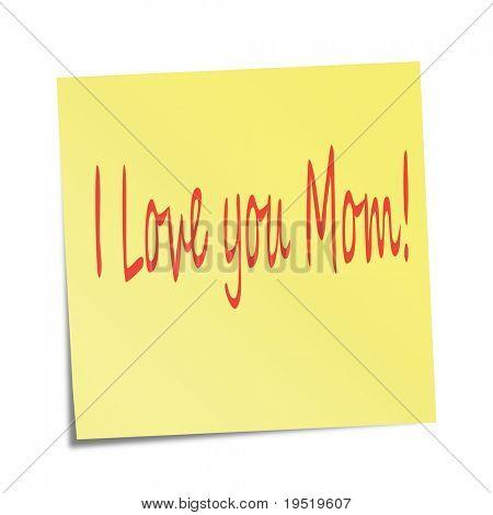 Te quiero a mamá! -una ilustración para su proyecto de diseño.