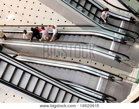 escalator in a big mall