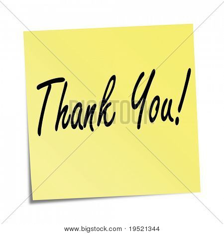 Sticky note - Thank you!
