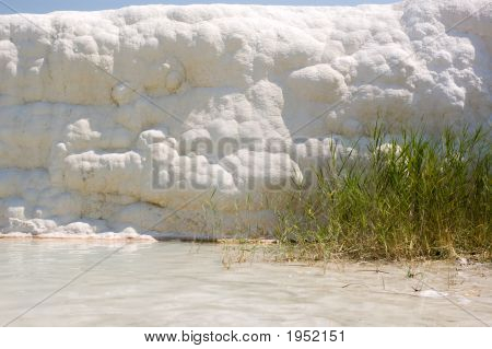 Wall Of Calcium. Pamukkale.