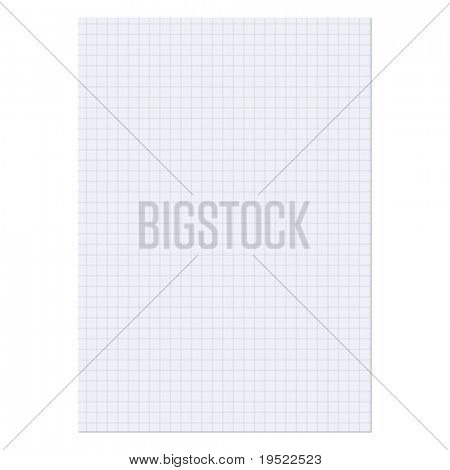 Hoja de papel sobre un fondo blanco